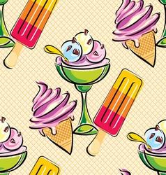 ice cream seamless vector image