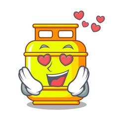 In love creative gas cartoon tank container vector