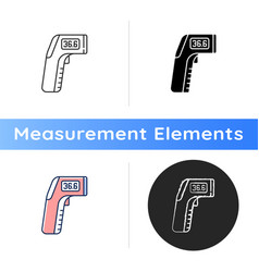 infrared thermometer icon vector image