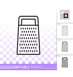 kitchen grater simple black line icon vector image