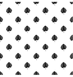 Leaf of monstera pattern vector