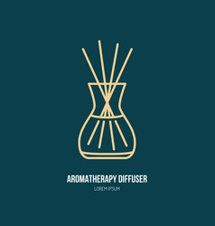 Line icon of aromatherapy diffuser simple vector