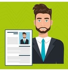 man cv find person vector image