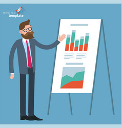 man making presentation vector image
