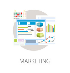 marketing graphics and charts modern technology vector image