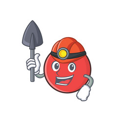 Miner bowling ball character cartoon vector