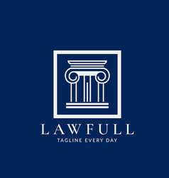 Minimalist law logo design template vector