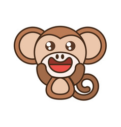 monkey baby animal kawaii design vector image