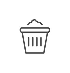 office bin line icon vector image