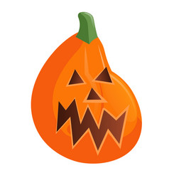 orange halloween pumpkin isolated on white vector image