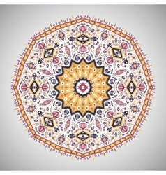 Ornamental round pattern in aztec style vector image