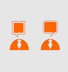 people icons with dialog speech bubbles vector image