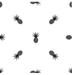 Pineapple pattern seamless black vector