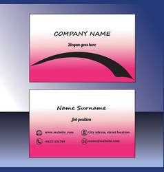 pink business card vector image