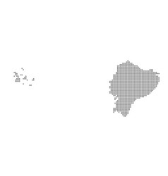 pixel map of ecuador dotted map of ecuador vector image
