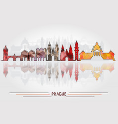Prague city background vector