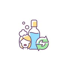 Refillable shampoo bottle rgb color icon vector
