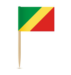 republic congo flag flag toothpick on vector image