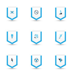 safety icons colored set with protective clothing vector image