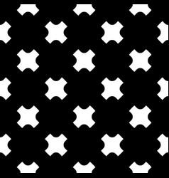 seamless pattern white crosses on black backdrop vector image