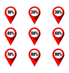 Set of map pointers with different percentage vector