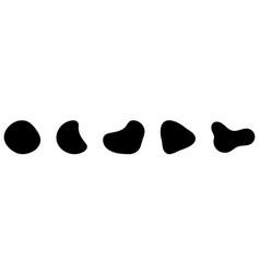 Set of random blotch inkblot organic blob blot vector