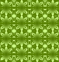 Shiny floral pattern seamless background green vector