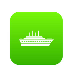 ship icon digital green vector image