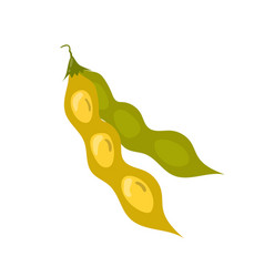 Soy bean pod icon unhealthy eating cartoon vector