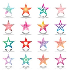 stars design set vector image