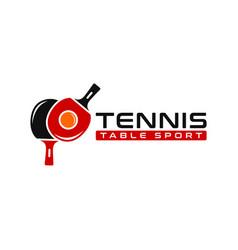 table tennis sports logo vector image