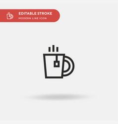 tea cup simple icon symbol vector image