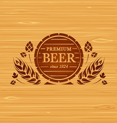 template beer emblem vector image