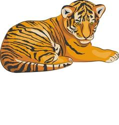 tiger a vector image