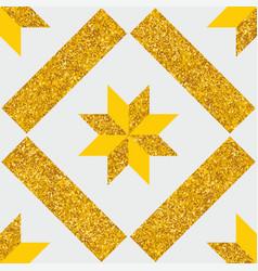 tile decorative floor pattern or gold background vector image