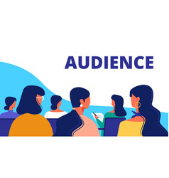 training for women woman audience in hall vector image