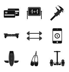 Two wheelers icons set simple style vector