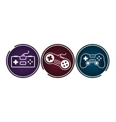video game controllers gadgets vector image