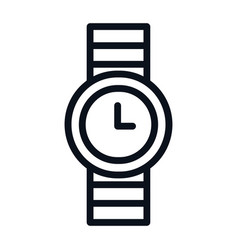 watch icon isolated on white background watch vector image