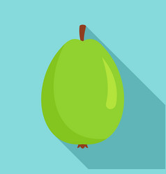Whole guava icon flat style vector