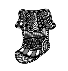 Winter boot zentangle vector