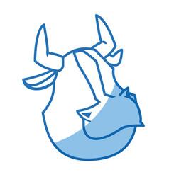 Cartoon bull animal farm strong power vector