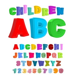 Children ABC Large letters in kids style babies vector image vector image
