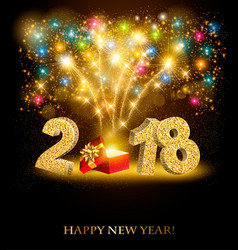 happy new year background with a firework and vector image vector image