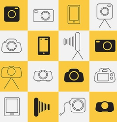 Photo - Photography Icons vector image