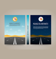 road to infinity cover night and day highway vector image