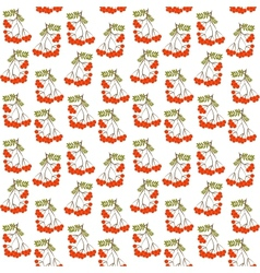 Seamless pattern background with rowanberrys and vector image