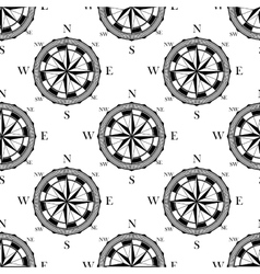 Seamless pattern of vintage compasses vector image vector image