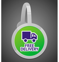sign with free delivery icon vector image