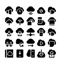 Cloud Computing Icons 4 vector image vector image